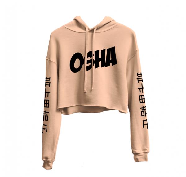 Peach-Cropped-hoodie